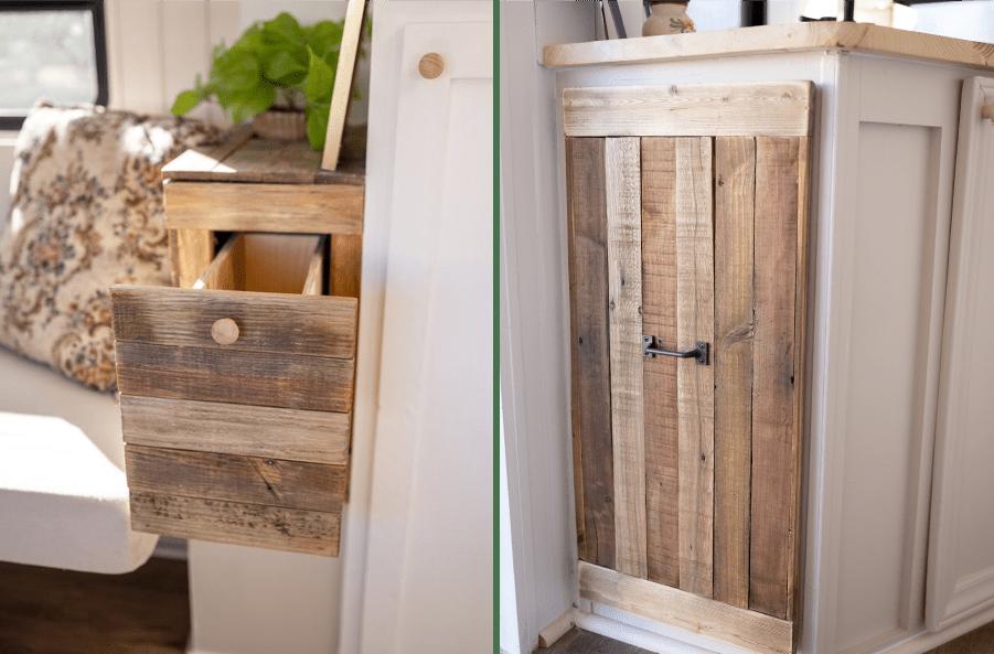 camper remodel using reclaimed wood