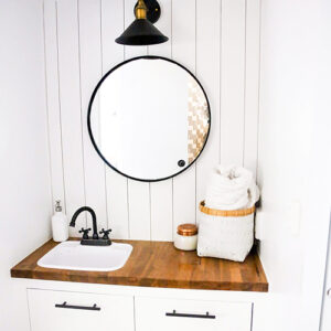 modern camper bathroom