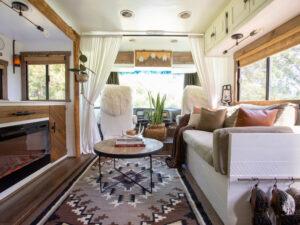 rustic RV living room remodel