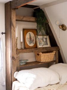 cozy bed nook in camper