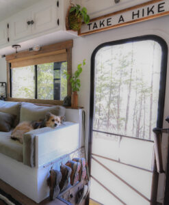 Take a Hike Sign above door in RV