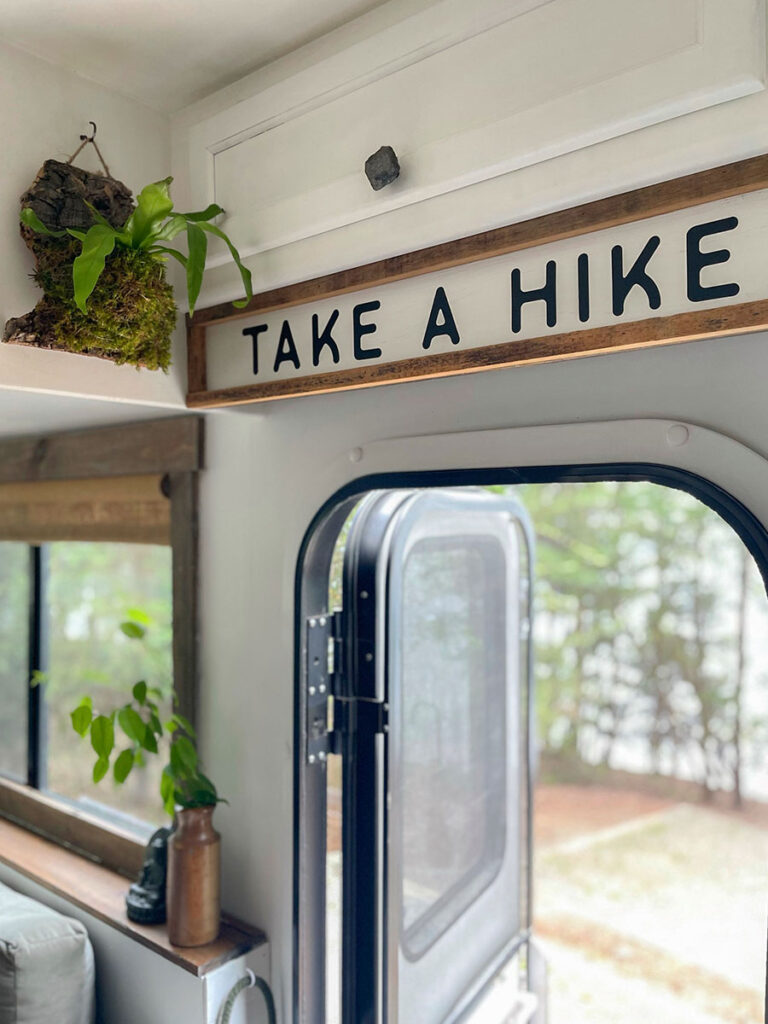 take a high sign above RV door