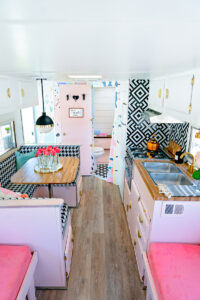 pretty and playful vintage camper