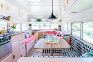 pink-infused camper remodel