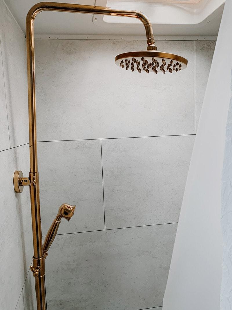 renovated RV shower