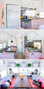 colorful camper renovation