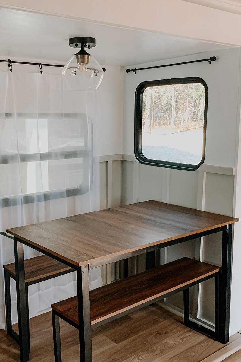 See how these RV flippers transformed a travel trailer in only 4 weeks!