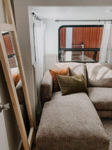 sofab sofa inside RV