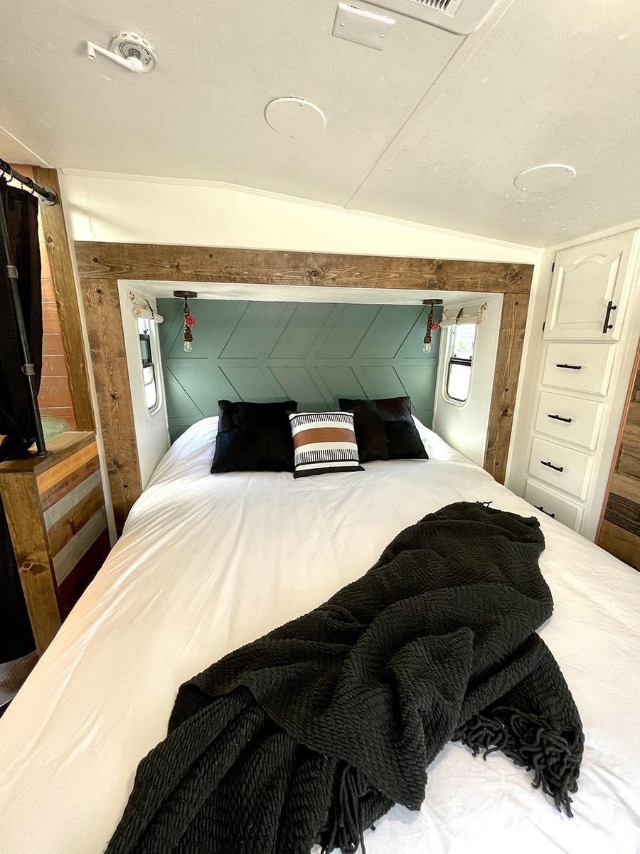 remodeled RV bedroom