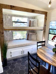 Renovated RV bunks