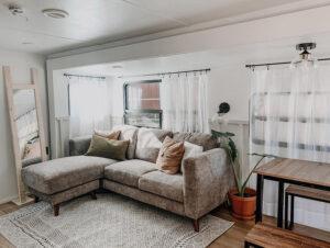 renovated RV living room