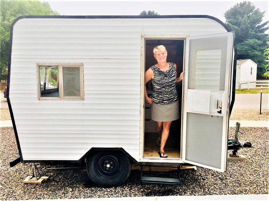 """""""Bitty"""" the tiny camper"""