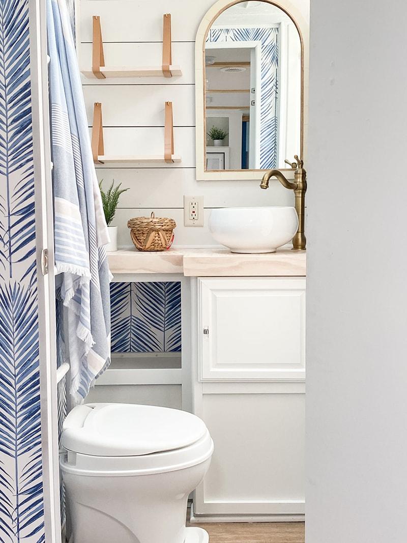 coastal RV bathroom