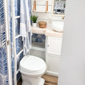 coastal RV bathroom remodel