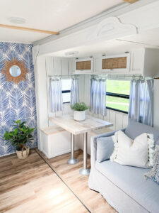 modern coastal RV interior