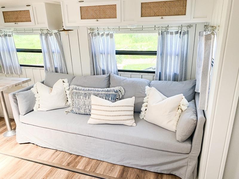 stylish RV sofa