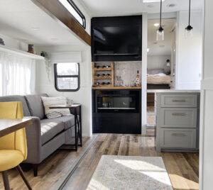 renovated RV interior