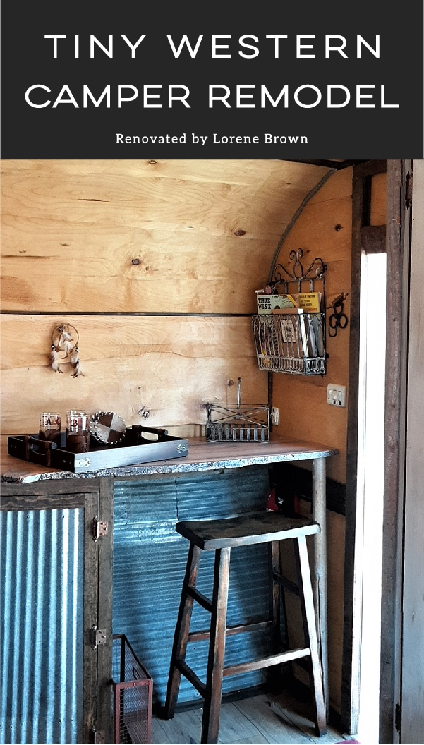This tiny western camper will transport you to another time and place!