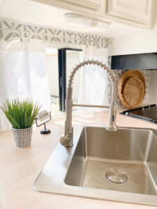 renovated RV kitchen sink