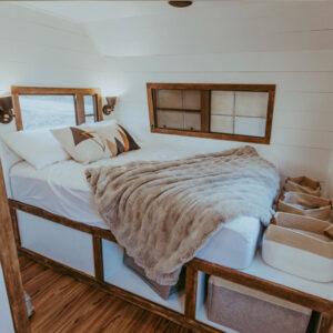 cozy camper bedroom