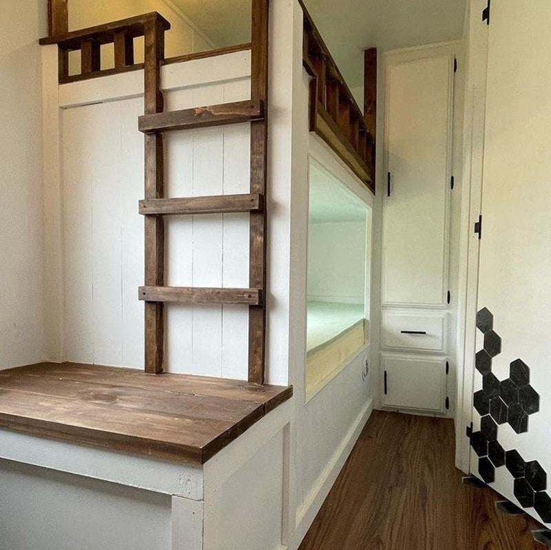 camper bunk bed remodel
