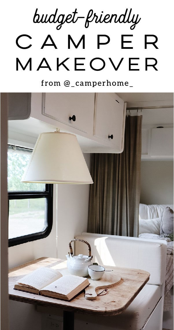 This lovely camper makeover cost less than $2k and is oh-so-charming