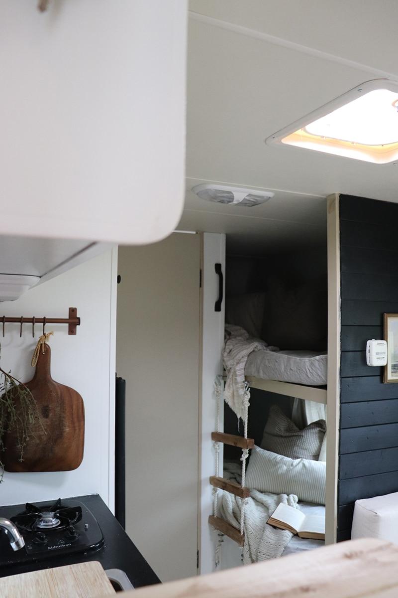 renovated camper interior