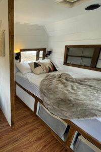 rustic camper bedroom remodel