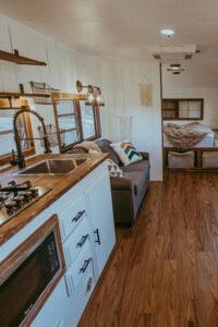 cozy rustic camper remodel