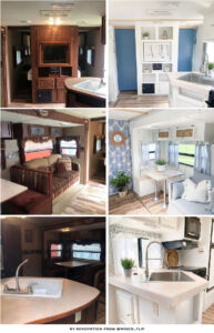 travel trailer renovation before after
