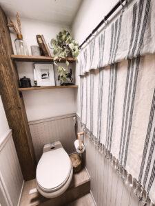 rustic RV bathroom