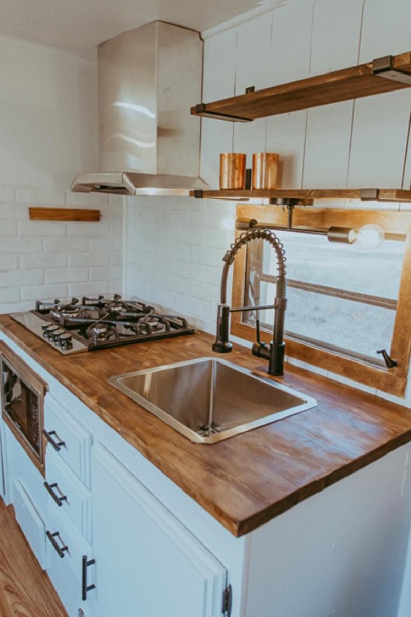 modern farmhouse camper kitchen