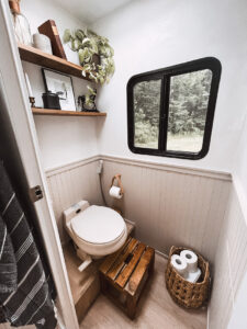 renovated RV bathroom