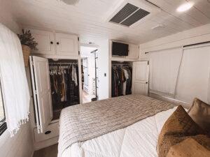 remodeled motorhome bedroom