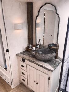 renovated motorhome bathroom