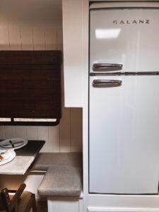 retro looking fridge in RV