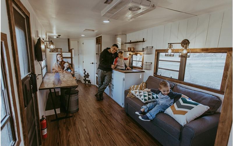 RV renovating family