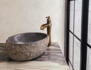 rv bathroom stone sink