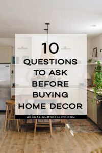 questions before making purchases