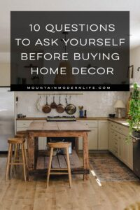 before buying home decor tips