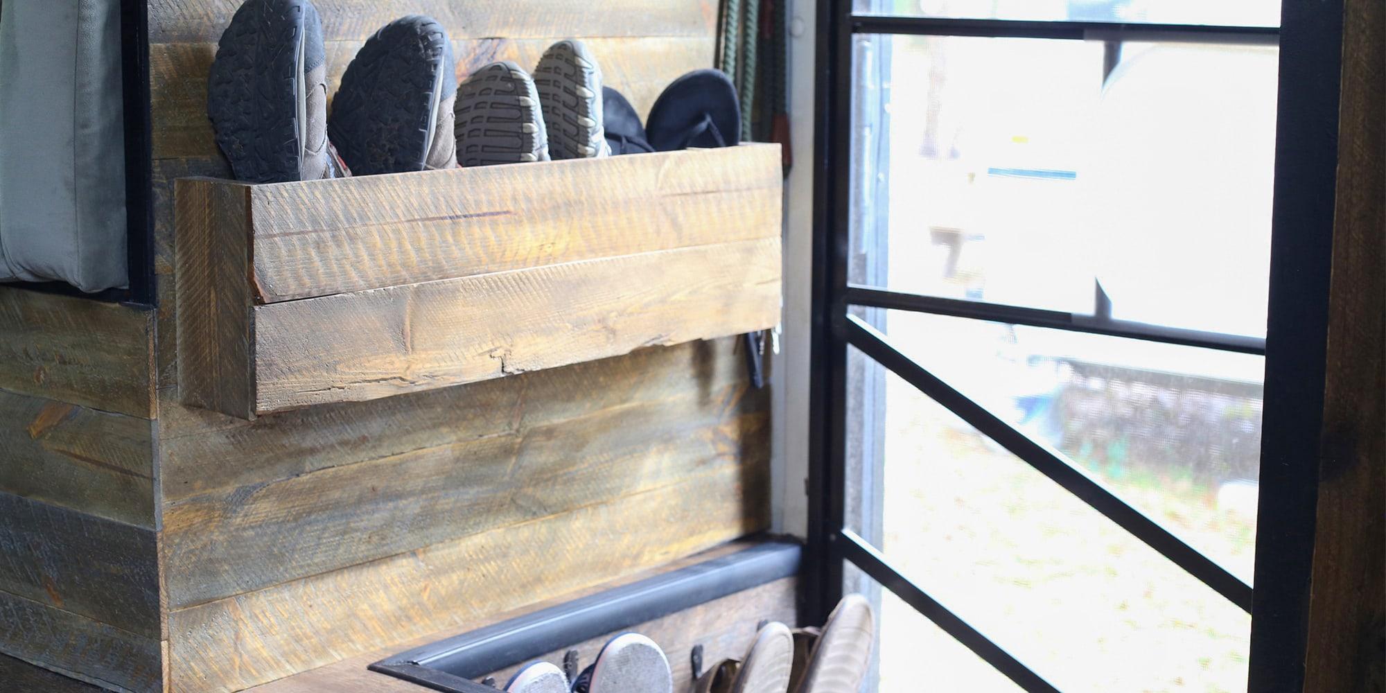 Clever RV Shoe Storage Ideas